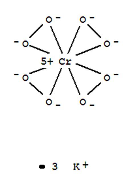 potassiumperoxychromate (k3cro8) (7ci); hydrogen peroxide