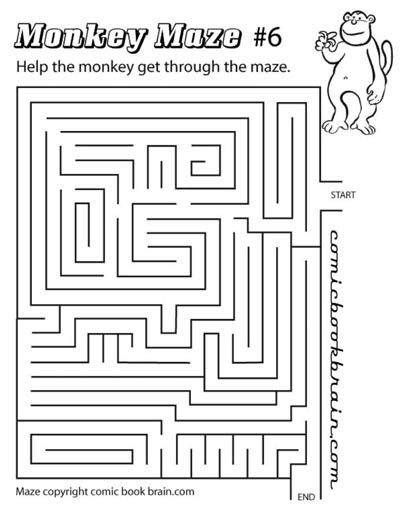 printable monkey maze medium maze ma