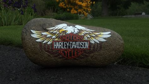 Harley Painted Garden Rock Rocks Pinterest Painted Rocks For Garden