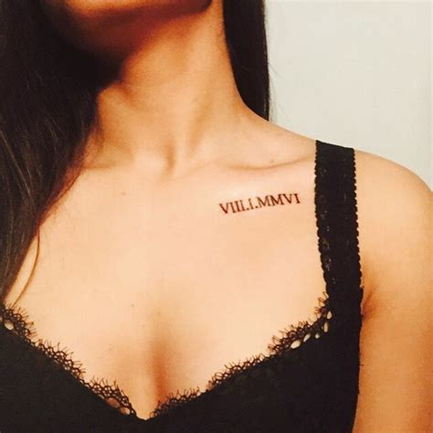 11 roman numerals collar bone image result for numerals collar bone