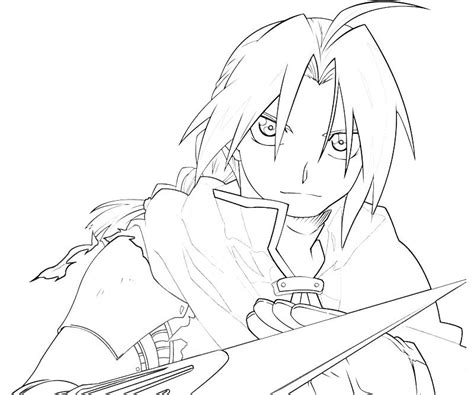 Fullmetal Alchemist Coloring Pages Printable Fullmetal Alchemist Edward Elric Handsome by Fullmetal Alchemist Coloring Pages
