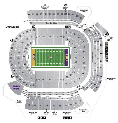 baton tiger stadium seating diagram diagrams auto