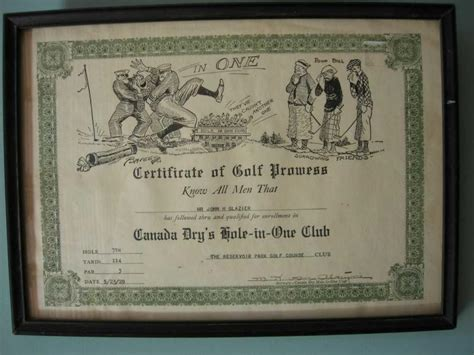 hole in one certificate photo christopher wheeler photos