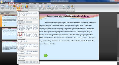 Membuat Tombol Next Powerpoint | cara membuat tombol next back master power point