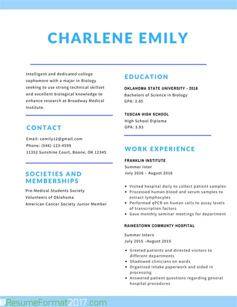 best resume formats for students the greatest student resume format 2017 resume format 2017
