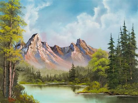 bob ross of painting bob ross crimson mountains painting bob ross crimson