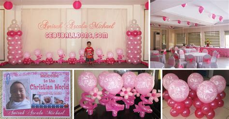 Christening Stage Decoration by Christening Stage Decoration 1 Christening Balloon