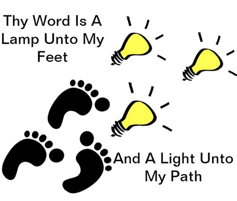 a l unto my feet thy word is l unto my feet where do you get your