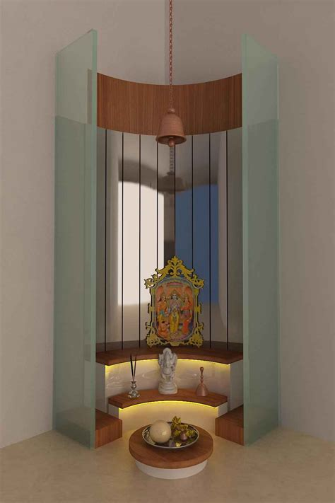 Interior Design For Mandir In Home by Glass Mandir Designs For Home Glass Temple Designs Photos