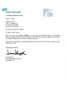 roofing company thank you letter roofing company