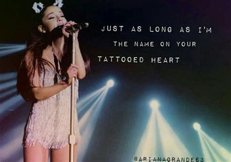 tattooed heart ariana grande testo e traduzione 25 best ideas about tattooed heart ariana grande on