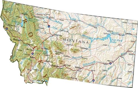 map of montana state montana area 147046 square state of montana