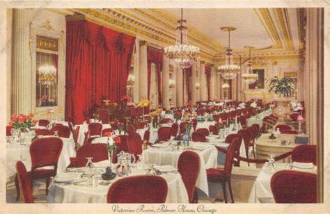 chicago illinois  postcard victorian dining room
