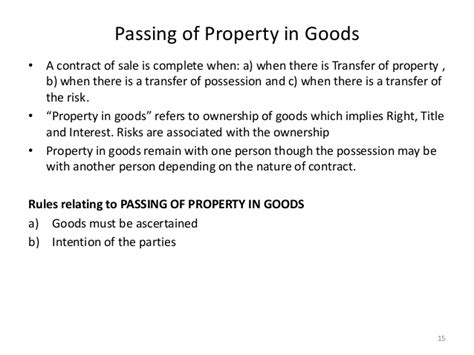 Transfer Goods Letter Sale Of Goods Act 1930