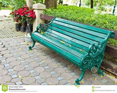 the green bench bench in the park royalty free stock photos image 23539288