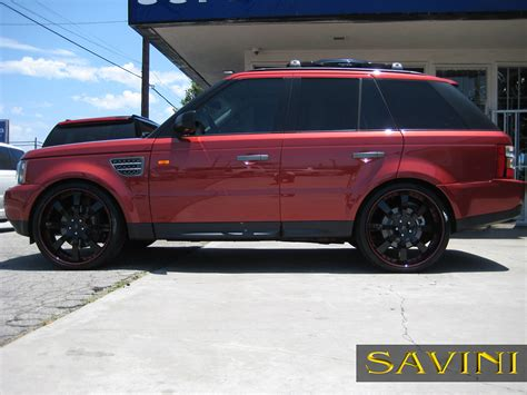 black land rover with black rims range rover sport savini wheels
