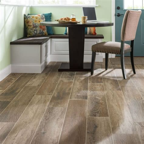 Kitchen Floor Mats At Lowes Style Selections Timber Cinnamon Glazed Porcelain