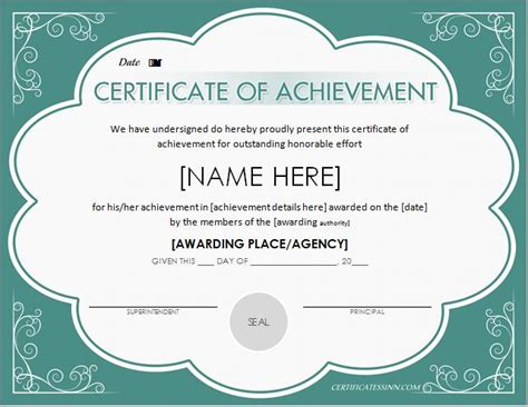 scholarship award certificate template word excel