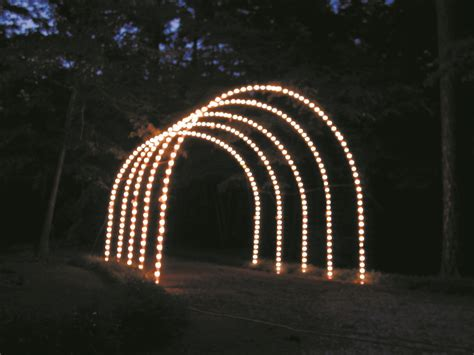 image gallery lighted christmas archway