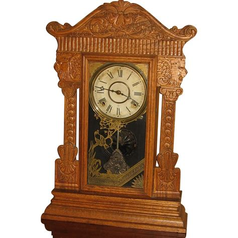 Gilbert Kitchen Clock by Wm Gilbert Pressed Oak Kitchen Clock