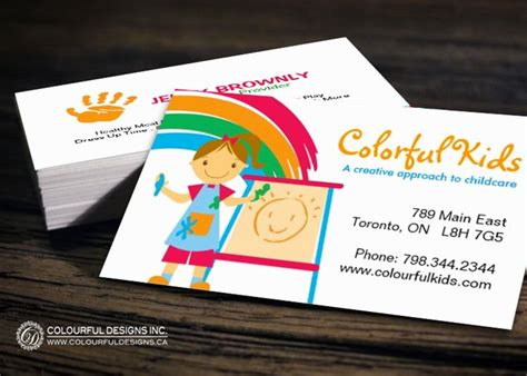 childcare business cards templates fully customizable childcare business card templates