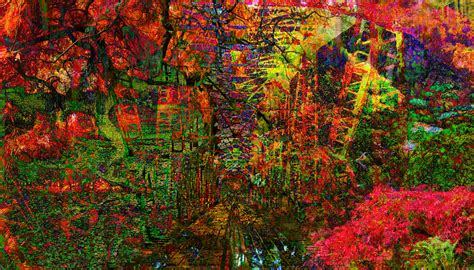 abstract garden abstract landscape garden digital by clanahan