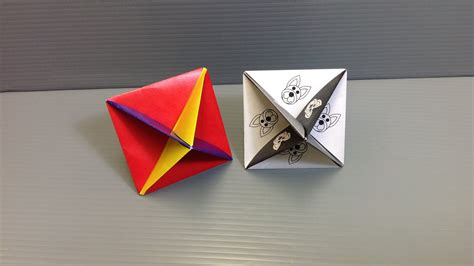 Origami Spinning Top - print and make your own origami spinning top