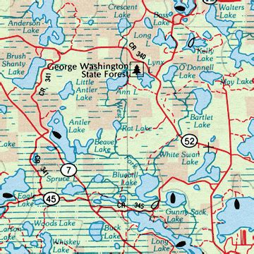 minnesota road map minnesota street atlas