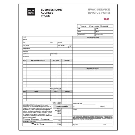 air balance report template hvac service invoice forms
