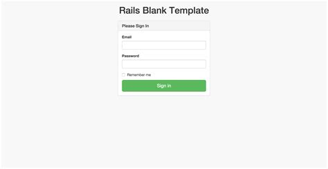 rails templates rails blank template app for fast prototyping