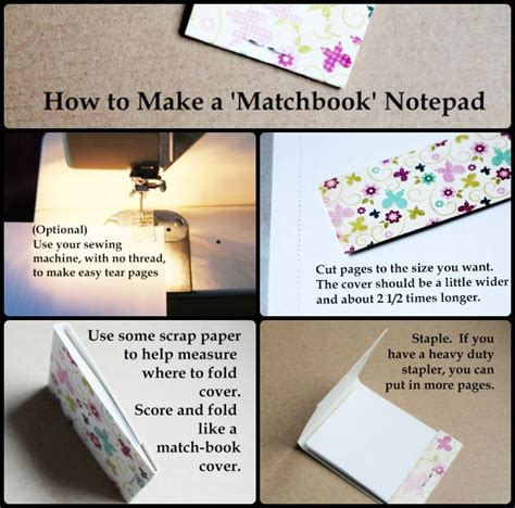 How To Make Handmade Notebooks - how to make a matchbook notepad loulou downtown