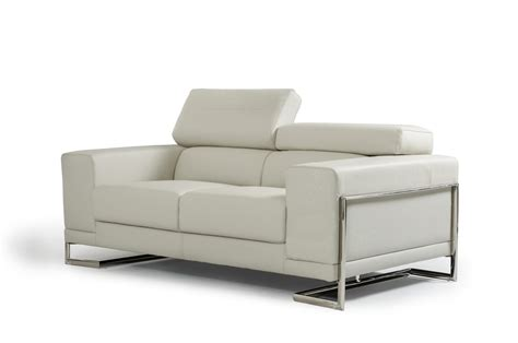 light gray leather sofa divani casa hover modern light grey leather sofa set