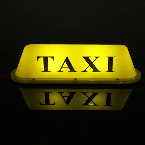 Taxi Light by Yellow Waterproof Taxi Magnetic Base Roof Top Car Cab Led