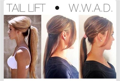 how to get a lifted crown hairdo pony tail lift cute super easy trusper