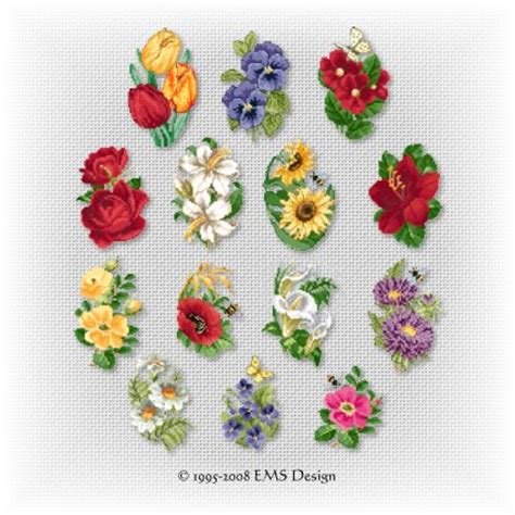ems machine embroidery card & bookmark designs for
