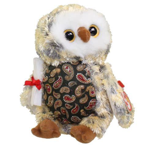 ty beanie babies owl ty beanie baby smarty the graduation owl w green chest