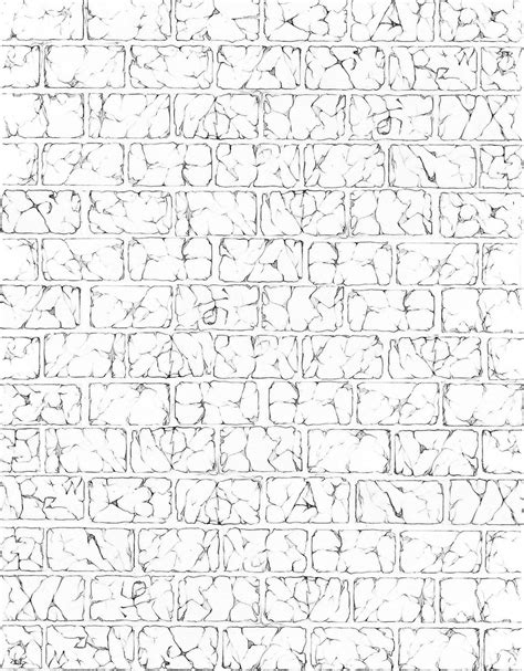 brick pattern sketch cracked brick wall by harinezumi69 on deviantart