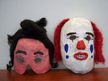 How To Make A Mask Without Paper Mache - paper mache masks activity education