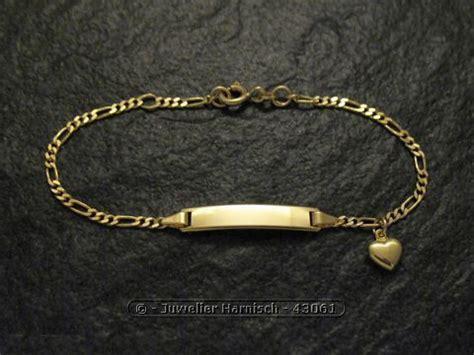 Gold Armband Polieren by Gravur Armband Gold 585 Herz Poliert Bis 16 Cm