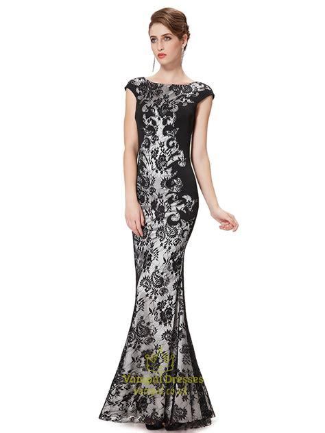 mermaid longdress black lace mermaid prom dresses 2015 black lace
