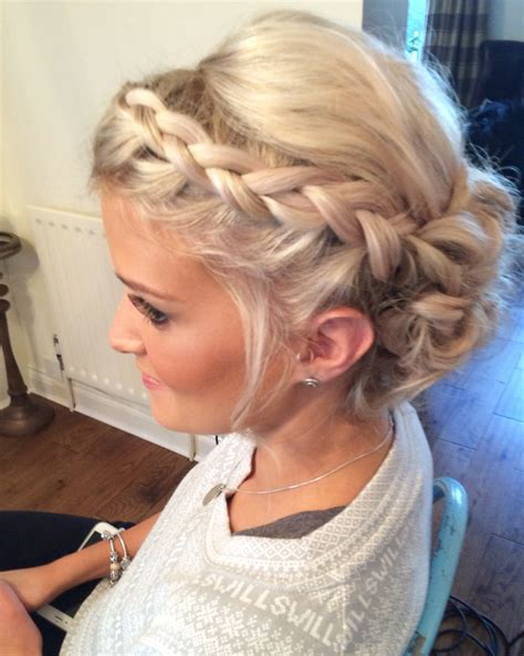 Wedding Hair Up With Plaits by Wedding Hair Priory Cottages Bridal Updo Plait Plaits