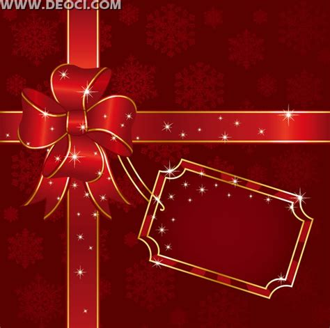 Vector red gift box background design template EPS file to