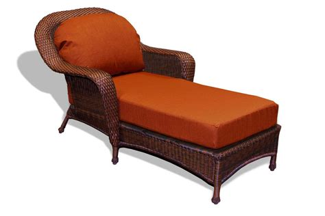 outdoor wicker chaise lounge tortuga outdoor lexington wicker cushion chaise lounge