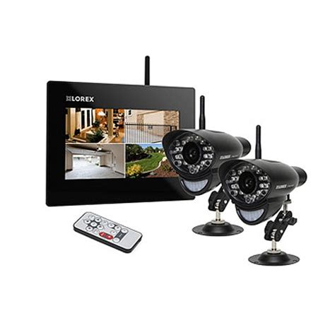 lorex 2 security system with 9 quot lcd monitor