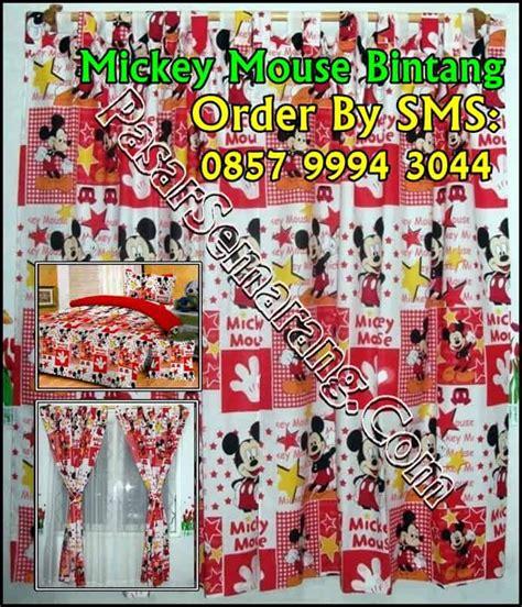 Set Minnie Deni Murah Grosir Setelan Anak grosir pusat jual tirai jendela disney sprei disney gorden mickey mouse ready pasarsemarang