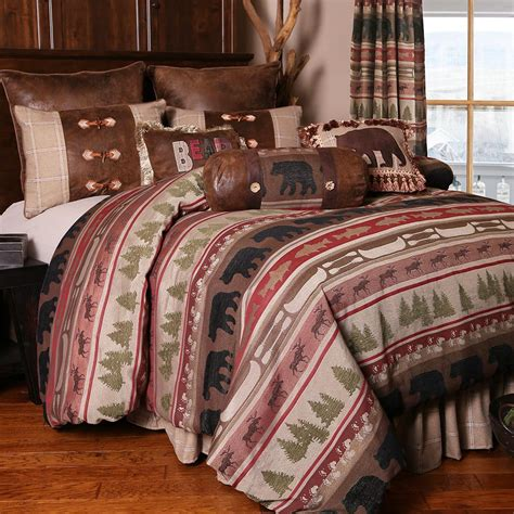 bear comforter timberline bear bedding collection cabin place