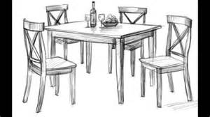 tisch zeichnen how to draw a dining room