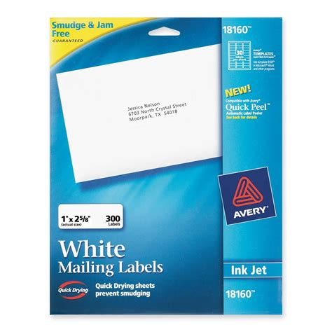 avery templates 18160 avery address labels ld products