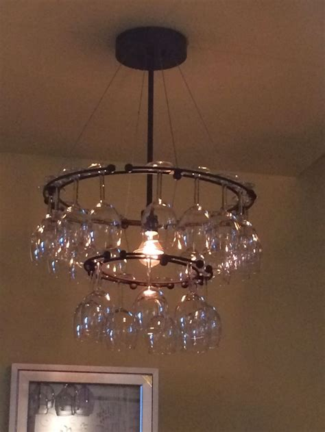 Diy Wine Glass Chandelier How To Make A Wine Glass Chandelier Wine Glass Chandelier Diy Diy Lighting Pinterest How To
