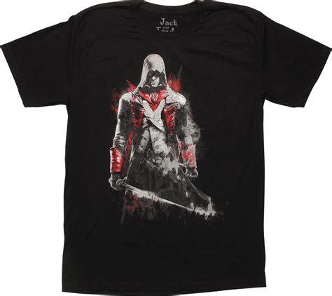 Tshirt Assassins Creed assassins creed arno dorain black t shirt sheer